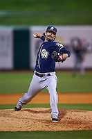 San Antonio Missions pitcher Michael Dimock (3) delivers a pitch during a game against the NW Arkansas Naturals on May 30, 2015 at Arvest Ballpark in Springdale, Arkansas.  San Antonio defeated NW Arkansas 5-2.  (Mike Janes/Four Seam Images)