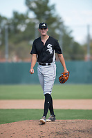 Chicago White Sox relief pitcher Lane Ramsey (44) during an Instructional League game against the Oakland Athletics at Lew Wolff Training Complex on October 5, 2018 in Mesa, Arizona. (Zachary Lucy/Four Seam Images)