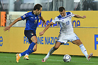 Federico Chiesa of Italy and Amer Gojak of Bosnia during the Uefa Nation League Group Stage A1 football match between Italy and Bosnia at Artemio Franchi Stadium in Firenze (Italy), September, 4, 2020. Photo Massimo Insabato / Insidefoto