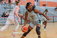 Nicole Elabosi (33) of Nigeria pictured during a basketball game between the national teams of Belgium , called the Belgian Cats , and Nigeria on Sunday 30 th of May 2021 in Kortrijk , Belgium . PHOTO SPORTPIX.BE | SPP | STIJN AUDOOREN
