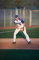 Nathan Waligora (16) of Stevenson High School in Livonia, Michigan during the Baseball Factory All-America Pre-Season Tournament, powered by Under Armour, on January 13, 2018 at Sloan Park Complex in Mesa, Arizona.  (Mike Janes/Four Seam Images)