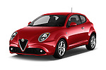 2016 Alfaromeo Mito Super 3 Door hatchback Angular Front stock photos of front three quarter view