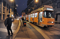 - Milan, Porta Romana main street....- Milano, corso di Porta Romana