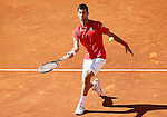 Novak Djokovic, Serbia, during Madrid Open Tennis 2016 match.May, 4, 2016.(ALTERPHOTOS/Acero)