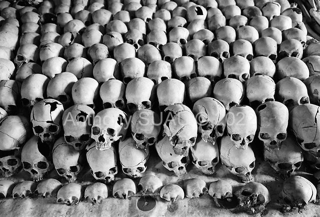 Bugesera region, Nyamata<br /> Church of Ntarama<br /> Rwanda<br /> February 2004<br /> <br /> Memorial sites in Rwanda to mark the 1994 genocide. Bones of the dead or bodies are displayed where they fell.