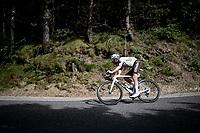 Ben O'Connor (AUS/AG2R Citroën) in the descent of the Col de Beixalis<br /> <br /> Stage 15 from Céret to Andorra la Vella (191km)<br /> 108th Tour de France 2021 (2.UWT)<br /> <br /> ©kramon