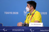 Australian Press Conference with Chef de Mission Kate McLoughlin, 5xParalympian Tristen Knowles and Media/Broadcast Director for PA, Tim Mannion<br /> 2020 Tokyo Paralympic Games<br /> Paralympics Australia / Day 0<br /> Tokyo Japan :  Tuesday 24 Aug 2021<br /> © Sport the library / Jeff Crow / PA
