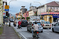 Ipoh, Malaysia.  Street Scene and Local Architecture.