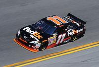 Feb 07, 2009; Daytona Beach, FL, USA; NASCAR Sprint Cup Series driver Denny Hamlin during practice for the Daytona 500 at Daytona International Speedway. Mandatory Credit: Mark J. Rebilas-