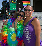 Savannah and her mom Patricia during the Pride Parade in Reno, Nevada on Saturday, July 27, 2019.