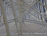 USA, Washington, bridge over Snake River, abstract