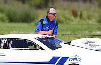 Apr 25, 2015; Baytown, TX, USA; NHRA pro stock driver Rodger Brogdon during qualifying for the Spring Nationals at Royal Purple Raceway. Mandatory Credit: Mark J. Rebilas-
