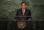 His Excellency Choummaly Sayasone, President of the Lao People's Democratic Republic<br /> <br /> <br /> 6th plenary meeting High-level plenary meeting of the General Assembly (3rd meeting)