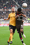 01.12.2018,  GER; 2. FBL, FC St. Pauli vs SG Dynamo Dresden ,DFL REGULATIONS PROHIBIT ANY USE OF PHOTOGRAPHS AS IMAGE SEQUENCES AND/OR QUASI-VIDEO, im Bild Rico Benatelli (Dresden #08) versucht sich gegen Sami Allagui (Pauli #11) durchzusetzen Foto © nordphoto / Witke *** Local Caption ***