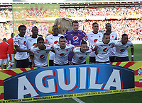 BOGOTA -COLOMBIA, 2-04-2017. Team of Independiente Medellin agaisnt Santa Fe during match for the date 11 of the Aguila League I 2017 played at Nemesio Camacho El Campin stadium . Photo:VizzorImage / Felipe Caicedo  / Staff