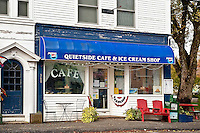 The Quietside Cafe, Southwest Harbor, Mount Desert Island, Maine, ME, USA