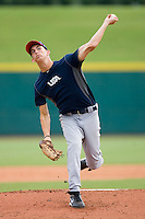 Henry Owens #51 of Team Blue in action against Team Red during the USA 18U National Team Trials at the USA Baseball National Training Center on July 1, 2010, in Cary, North Carolina.  Photo by Brian Westerholt / Four Seam Images