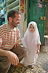 Young Girl & Father, Arab Quarter, Old Ciy, Jerusalem