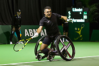 Rotterdam, The Netherlands, 16 Februari, 2018, ABNAMRO World Tennis Tournament, Ahoy, Tennis, Wheelchair, Stephane Houdet (FRA)<br /> <br /> Photo: www.tennisimages.com