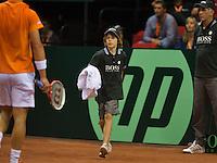 15-sept.-2013,Netherlands, Groningen,  Martini Plaza, Tennis, DavisCup Netherlands-Austria, fourth rubber,  Ballbou <br /> Photo: Henk Koster
