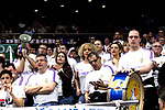 Real Madrid's supporters during Euroligue match between Real Madrid and Zalgiris Kaunas at Wizink Center in Madrid, Spain. April 4, 2019.  (ALTERPHOTOS/Alconada)