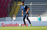 GUADALAJARA, MEXICO - MARCH 18: Mauricio Pineda #5 of the United States moves with the ball during a game between Costa Rica and USMNT U-23 at Estadio Jalisco on March 18, 2021 in Guadalajara, Mexico.