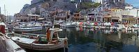 Europe/France/13/Bouches-du-Rhône/ Marseille: le Vallon des Auffes - Port de pêche