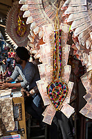 India, Dehradun.  Wedding Garlands made from Indian Rupee Notes, Gifts for a Bride.