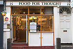 Exterior, Food for Thought Restaurant, Covent Garden, London, Great Britain, Europe