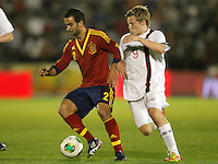 Spain's Montoya (l) and Norway's Svensson during international sub21 match.March 21,2013. (ALTERPHOTOS/Acero) /NortePhoto