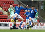 St Johnstone v Celtic…04.10.20   McDiarmid Park  SPFL<br />Murray Davidson tackles Tom Rogic<br />Picture by Graeme Hart.<br />Copyright Perthshire Picture Agency<br />Tel: 01738 623350  Mobile: 07990 594431
