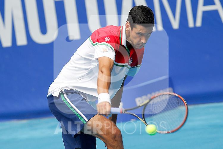 Victor Hanescu during Madrid Open Tennis 2012 Match.(ALTERPHOTOS/ALFAQUI/Acero)