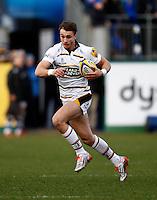 Photo: Richard Lane/Richard Lane Photography. Bath Rugby v Wasps. Aviva Premiership. 10/01/2015. Wasps' Josh Bassett attacks.