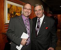 Montreal (Qc) CANADA Sept  30 2010 - Centaur Theater fundraiser Gala.Roy Surette (L), Fergus V. Keyes (R)