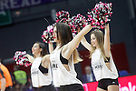 Real Madrid's cheerleaders during Euroleague Quarter-Finals 3rd match. April 19,2016. (ALTERPHOTOS/Acero)