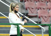 Milano 01-05 2021<br /> Stadio Giuseppe Meazza<br /> Serie A  Tim 2020/21<br /> Milan - Benevento<br /> Nella foto:   Diletta Leotta                                   <br /> Antonio Saia Kines Milano