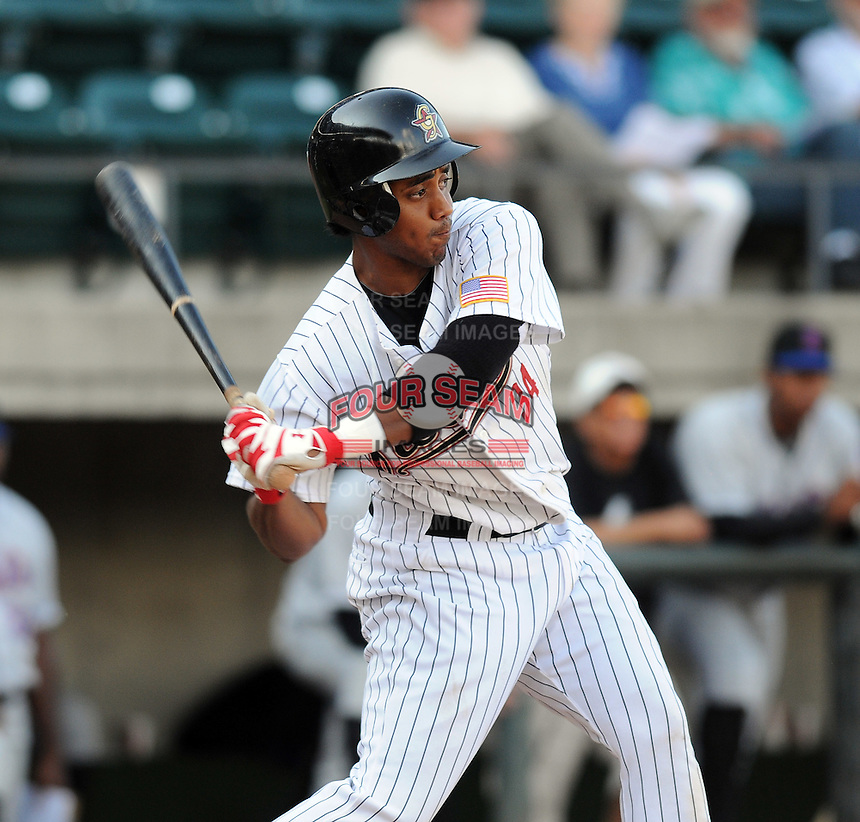 August 2, 2009: Outfielder Frank Almonte (35) of the Greeneville Astros, rookie Appalachian League affiliate of the Houston Astros, in a game at at Pioneer Park in Greeneville, Tenn. Photo by:  Tom Priddy/Four Seam Images