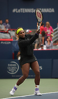 MONTREAL, CANADA – AUGUST 6 -<br /> World number One female tennis player Serena Williams get ready before  playing against Samantha Stosur<br /> during the rogers tennis cup 2014 montreal, at the Uniprix Stadium on August6, 2014.<br /> <br /> Photo : Agence Quebec Presse - Pierre Roussel