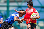 Chinese Taipei plays China during the ARFU Asian Rugby 7s Round 1 on August 23, 2014 at the Hong Kong Football Club in Hong Kong, China. Photo by Xaume Olleros / Power Sport Images