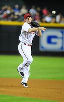 Jun. 2, 2011; Phoenix, AZ, USA; Arizona Diamondbacks shortstop Stephen Drew against the Washington Nationals at Chase Field. Mandatory Credit: Mark J. Rebilas-