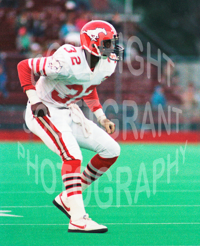 Ray Odums Calgary Stampeders 1984. Copyright photograph Scott Grant