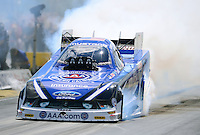 Sept 9, 2012; Clermont, IN, USA: NHRA funny car driver Robert Hight during the US Nationals at Lucas Oil Raceway. Mandatory Credit: Mark J. Rebilas-