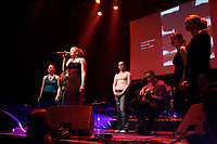 May 20 2005, Montreal (Qc) Canada <br /> <br /> Les Zalarmes sing at Independance Plus Que Jamais concert at Metropolis to commemorate the 25th anniversary of the first Referendum on Quebec Independance<br /> <br /> <br /> PHOTO :  Agence Quebec Presse