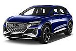 2022 Audi Q4-e-tron EV-S-Line 5 Door SUV Angular Front automotive stock photos of front three quarter view