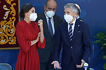 Queen Letizia of Spain (l) with the Minister of the Interior, Fernando Grande Marlaska, during the act on the occasion of the festival of 'San Juan Bautista', Patron of the Municipal Police of Madrid. June 24, 2021 (ALTERPHOTOS/Acero)