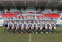MCB vs Wallace High School | Thursday 5th March 2015<br /> <br /> The Wallace High School team -  Schools Cup Semi-Final victory over Methody at the Kingspan Stadium, Ravenhill Park, Belfast, Northern Ireland.<br /> <br /> Picture credit: John Dickson / DICKSONDIGITAL