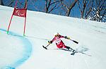 Frederique Turgeon, PyeongChang 2018 - Para Alpine Skiing // Ski para-alpin.<br /> Frederique Turgeon skis in the super combined // Frederique Turgeon skis dans le super combiné. 13/03/2018.