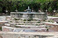 Antigua, Guatemala.  Fountain of Santo Domingo.