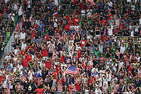 AUSTIN, TX - JULY 29: United States fans during a game between Qatar and USMNT at Q2 Stadium on July 29, 2021 in Austin, Texas.
