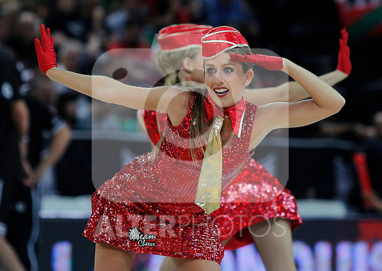 ACB's cheerleaders during Supercopa ACB Semifinal match.September 30,2011. (ALTERPHOTOS/Acero)